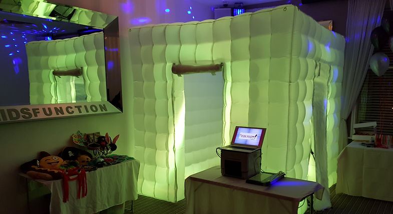 Inflatable LED Photo Boot at a birthday party