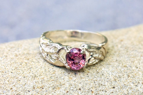 Pink Tourmaline (5x7) Undetermined Ring - Sterling