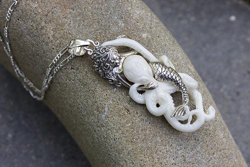 Mermaid Entangled in Octopus of Pendant