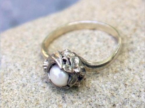 Pearl in Flower - Sterling