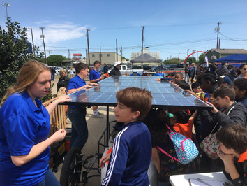 EarthX Day 1 - CCA Solar Car Team sharing with the community!