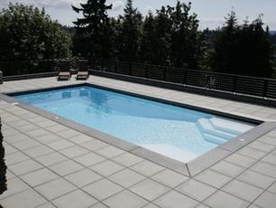 rectangle Fiberglass pool installation