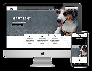 The Spot 4 Dogs web design by Phantom Eye Design