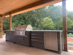 Outdoor kitchen remodel in North Georgia