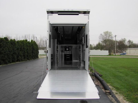 Custom trailer with ramp