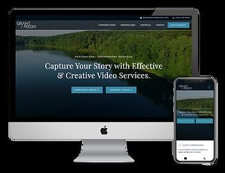 Grant Media website design by Phantom Eye