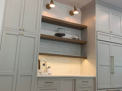 kitchen remodeling project with floor to ceiling cabinetry with prep counter space