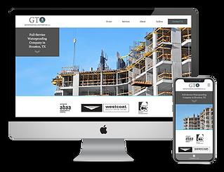 Website design for contractor GTO Waterproofing