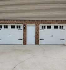 Stylish white garage doors