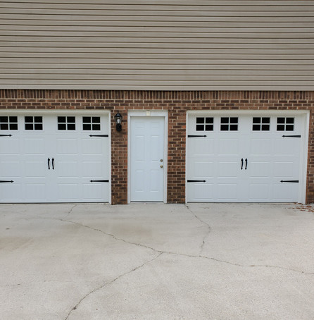 Stylish white garage doors