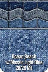 OceanBeach vinyl pool color