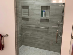 bathroom renovation with custom shower in north georgia