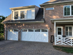 Custom white garage doors installed by Dodson Garage Doors in Birmingham, AL