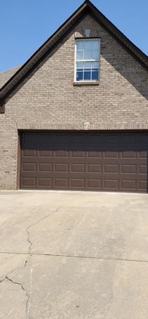 Wide garage door installation