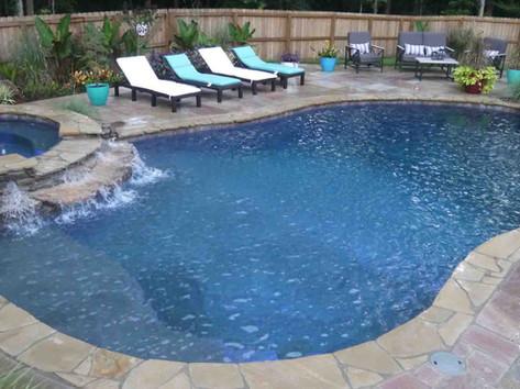 custom fiberglass pool built by Butler Pool and Spa