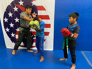 kids Kickboxing lesson