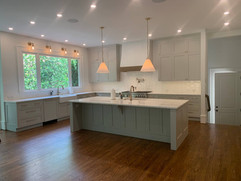 front view of kitchen remodeling project in north georgia