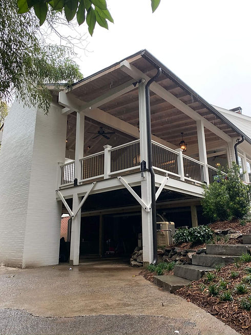 outdoor side view of deck remodel project in north georgia