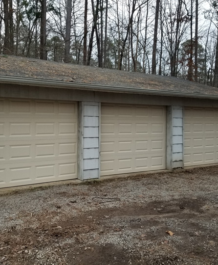 Triple garage door installation