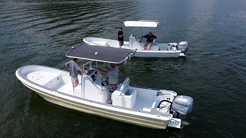 Panga Sports Panga Boat on the water in florida