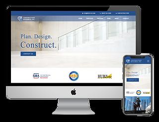 Construction Dynamics web design by Phantom Eye Design