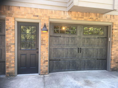 Custom rustic garage door installed by Dodson Garage Doors in Birmingham, AL