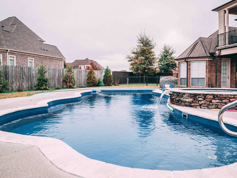 fiberglass pool built by Butler Pool and Spa
