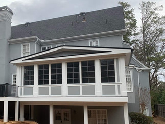 back exterior of enclosed home addition in north georgia