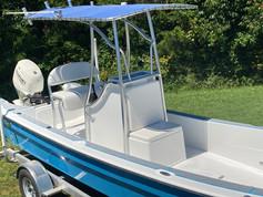 panga boat with canopy