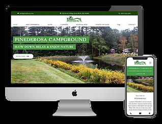 web design for RV Campground Pinederosa