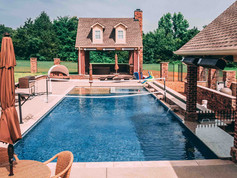 Fiberglass pool and deck built by Butler Pool and Spa