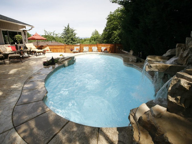 Fiberglass pool installation