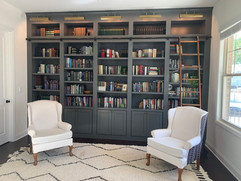 interior view of home remodeling library