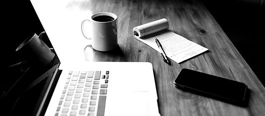 Coffee and news notepad