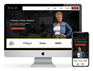 Michelle Amor web design by Phantom Eye Design