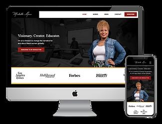 web design for screenwrite Michelle Amor