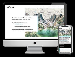 Invisors web design by Phantom Eye Design