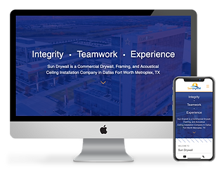 contractor website design for Sun Drywall