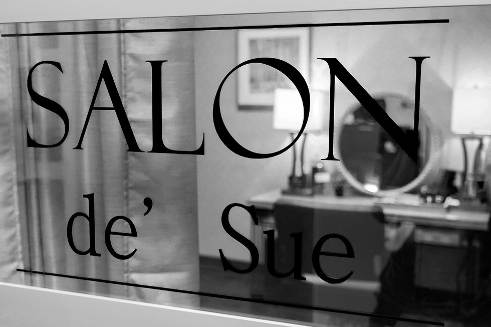 Salon de' Sue hair salon window indian trail NC