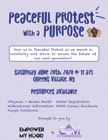 Peaceful Protest with a Purpose flyer