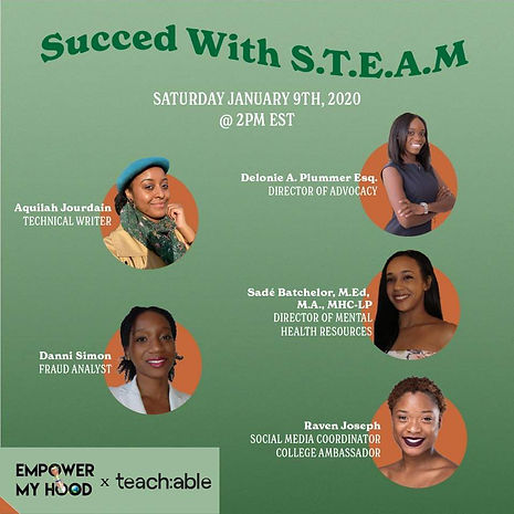 SUCCEED WITH S.T.E.A.M Empower My Hood
