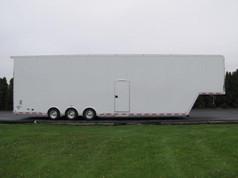 large triple axel trailer