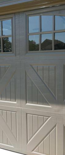 Garage door with window