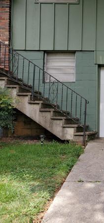 Single white garage door