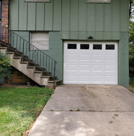 Single white garage door