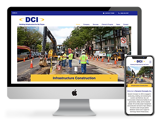 construction company website design for DCI