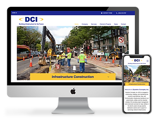 Dynamic Concepts, Inc. website design by Phantom Eye