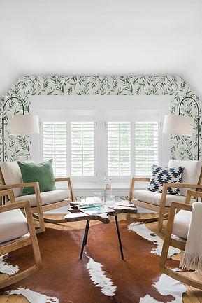Interior sitting room Ellijay River House Bed and Breakfast Ellijay Georgia