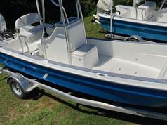 blue panga boat