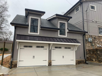 attached two car garage home addition